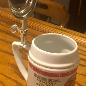 49er Beer Flask Special Edison With Certificate